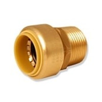 "Probite Lf862m Straight Male Push Connect Adapter 1-1/2"" X 1-1/2"" Mnpt Dual Seal Technology"