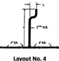 White Racker Wr-915a-4-18 Urinal High Tank Brass Flush Pipe