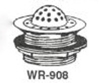 "White Racker Wr-908 4 3/8"" Cp Cast Brass Beehive Grid Strainer"