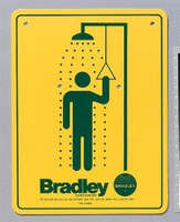 Bradley 114-050 Safety Sign Shower