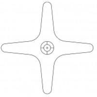Acorn 2290-002-199 Cross Handle Cold