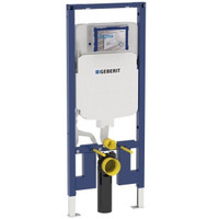 Geberit 111.798.00.1 Concealed Toilet Carrier Frame With Dual-Flush Tank For 2x4 Walls