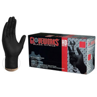 Gloveworks Large HD Black Nitrile Latex Free Disposable Gloves 6 Mil (100 Count)