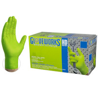 Gloveworks Large HD Green Nitrile Latex Free Disposable Gloves 8 Mil (100 Count)