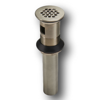 Price Pfister 972-104J Grid Strainer with Overflow Brushed Nickel