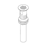 Price Pfister 972-104D Grid Strainer with Overflow Polished Nickel