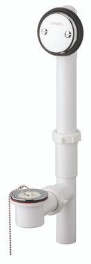 Gerber 41-590 Gerber Classics PVC Chain & Stopper Drain for Standard Tub Chrome