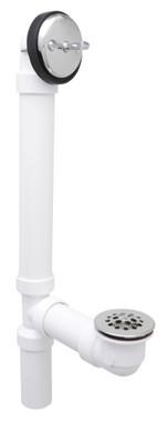 Gerber 41-572 Gerber Classics Schedule 40 PVC Trip Lever Drain for Standard Tub Chrome
