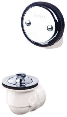 Gerber 41-552 Gerber Classics Schedule 40 PVC Lift & Turn Drain Kit for Standard Tub Chrome