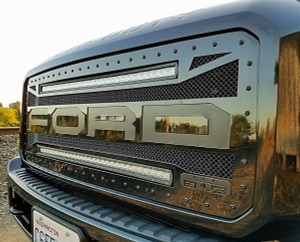 "2011-2016 Ford F250/F350 Raptor Style with 2 Single Row 30"" LED Light Bars"