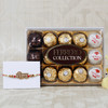 Veera Rakhi With Ferrero Rocher Hamper - For UK