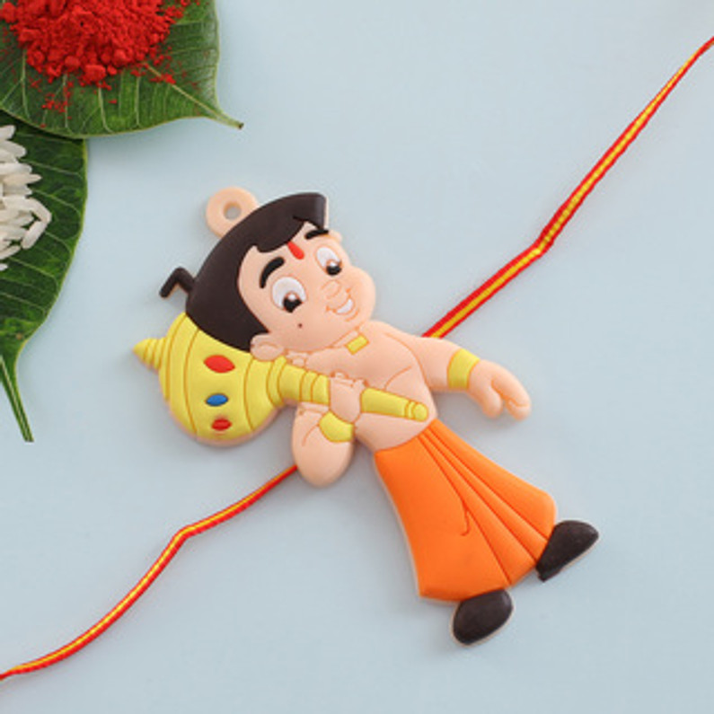 Send online cartoon Rakhi to your little brother