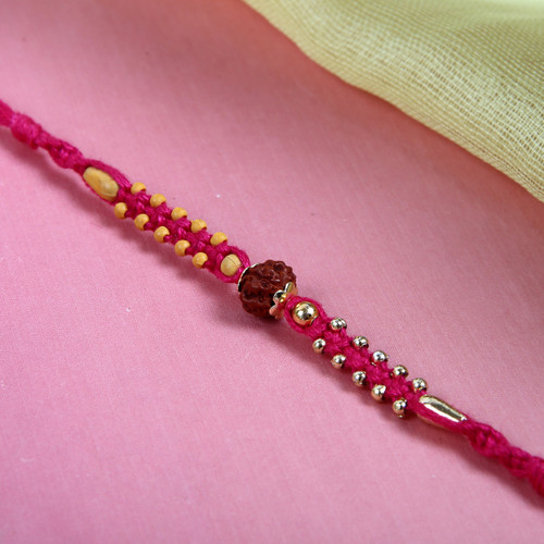 Rudraksha on Pink Thread - For Europe