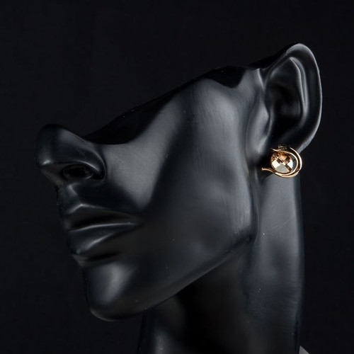 18K Gold Plated Gold SWA Element Austrian Crystal Pebbles Stud Earring