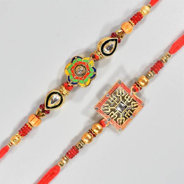 Traditional Puja Thali Rakhi Hamper - For USA