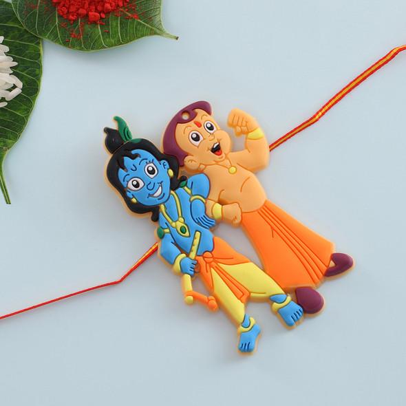 Chota Bheem Krishna Kids Rakhi - For UK