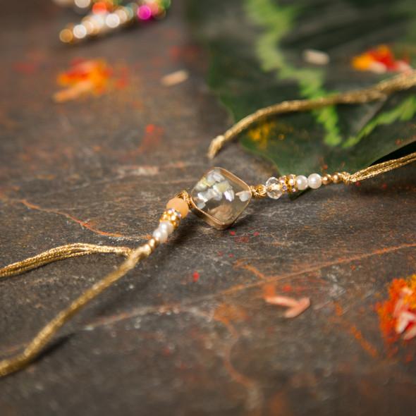 Premium Crystal Beads Rakhi - For UK