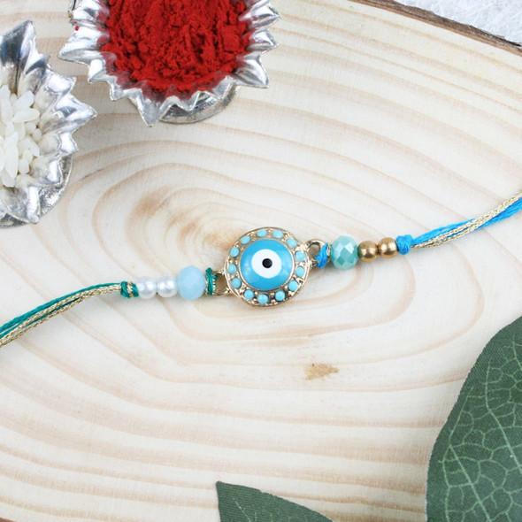 Evil Eye Trendy Designer Rakhi - For UK
