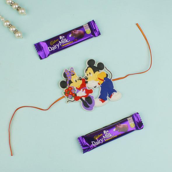 Kids Rakhi with Milk Chocolate - For UK