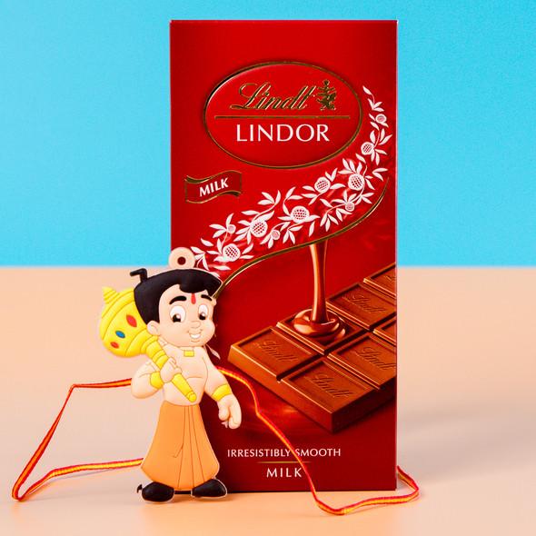 Kids Chota Bheem Rakhi with Chocolate Bar - For UK