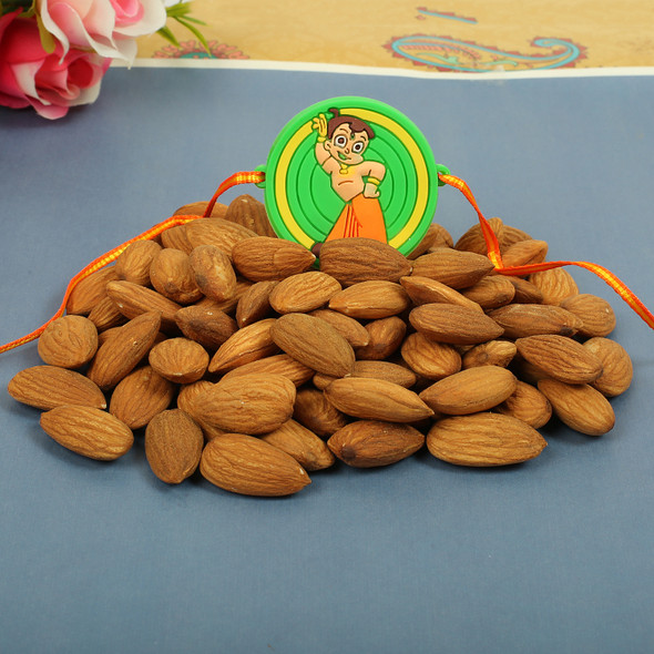 Chota Bheem Rakhi with Dry Fruit- For UK