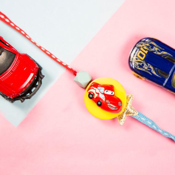McQueen Cars Kids Rakhi - For UK