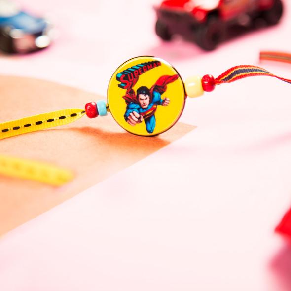 Superman Fancy Kids Rakhi - For UK