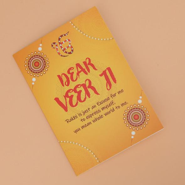 Veerji Punjabi Rakhi Card - For UK