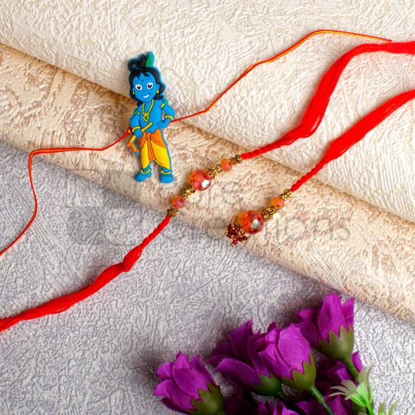 Adorable Bhaiya Bhabhi Rakhi Set - For UK