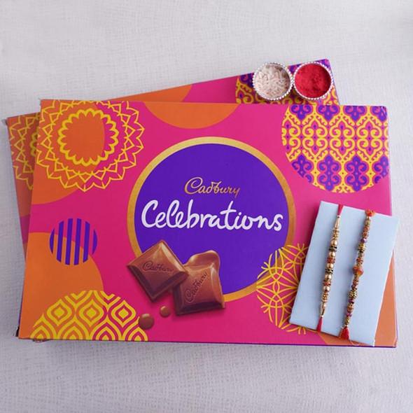Cadbury Celebration and Beaded Rakhi - For INDIA