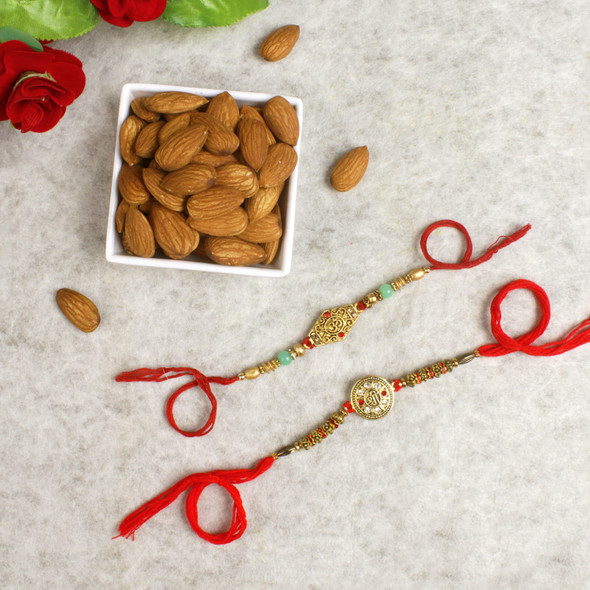 Ethnic Rakhis with Dry Fruits - For Europe