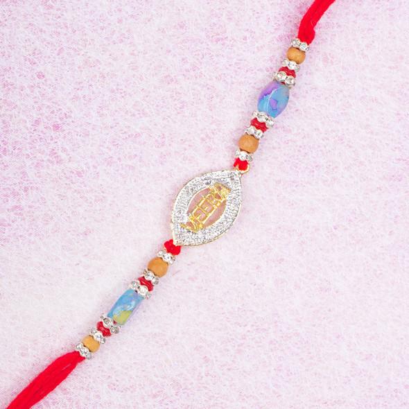 Veera Diamond Rakhi Thread - For USA