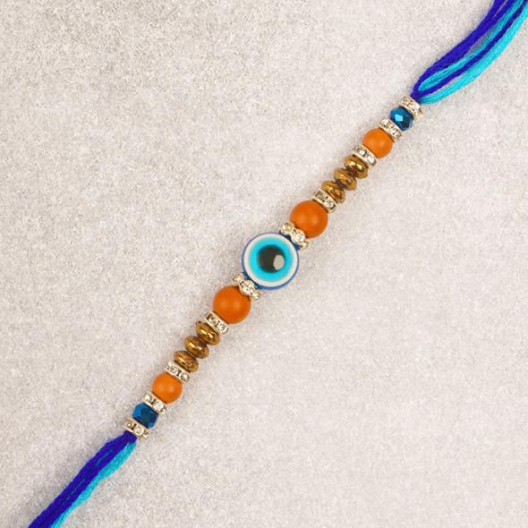 Evil Eye Fancy Beads Rakhi - For USA