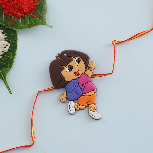 Dora The Explorer Cartoon Rakhi - For USA