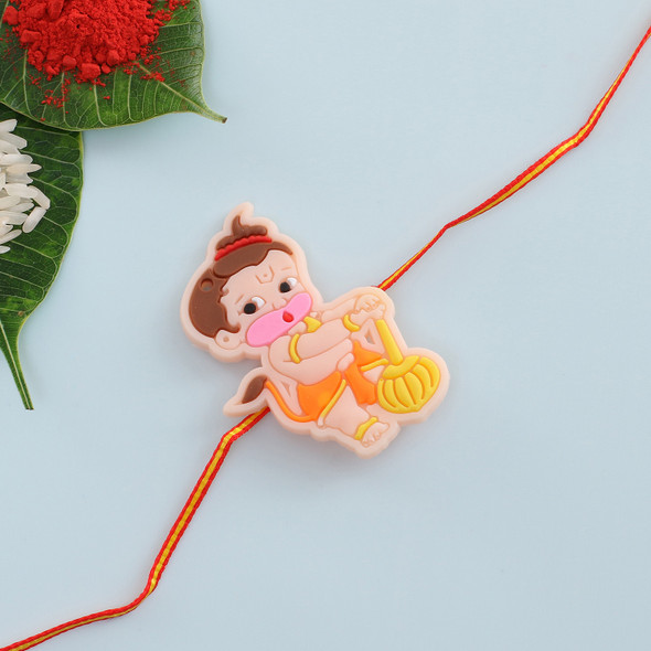 Cute Bal Hanuman Kids Rakhi - For USA