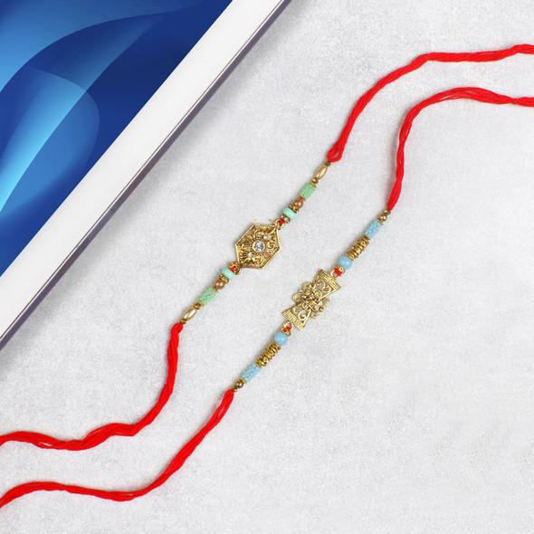 Majestic Royal Rakhi Set - For USA