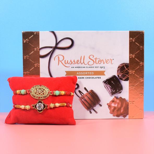 Sizzling Rakhi Chocolates Hampers - For USA