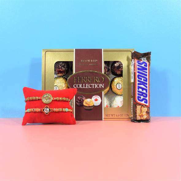 Ferrero Rocher Rakhi Chocolate Hamper - For USA