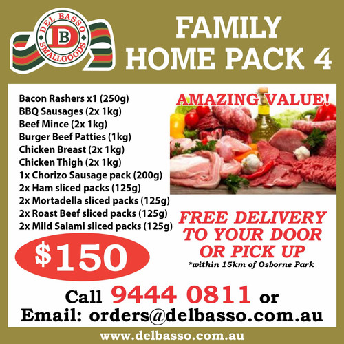Family Home Pack $150.00