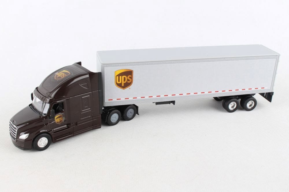 UPS Tractor Trailer, Brown and White - Daron GW68061 - 1/64 scale Diecast Model Toy Car