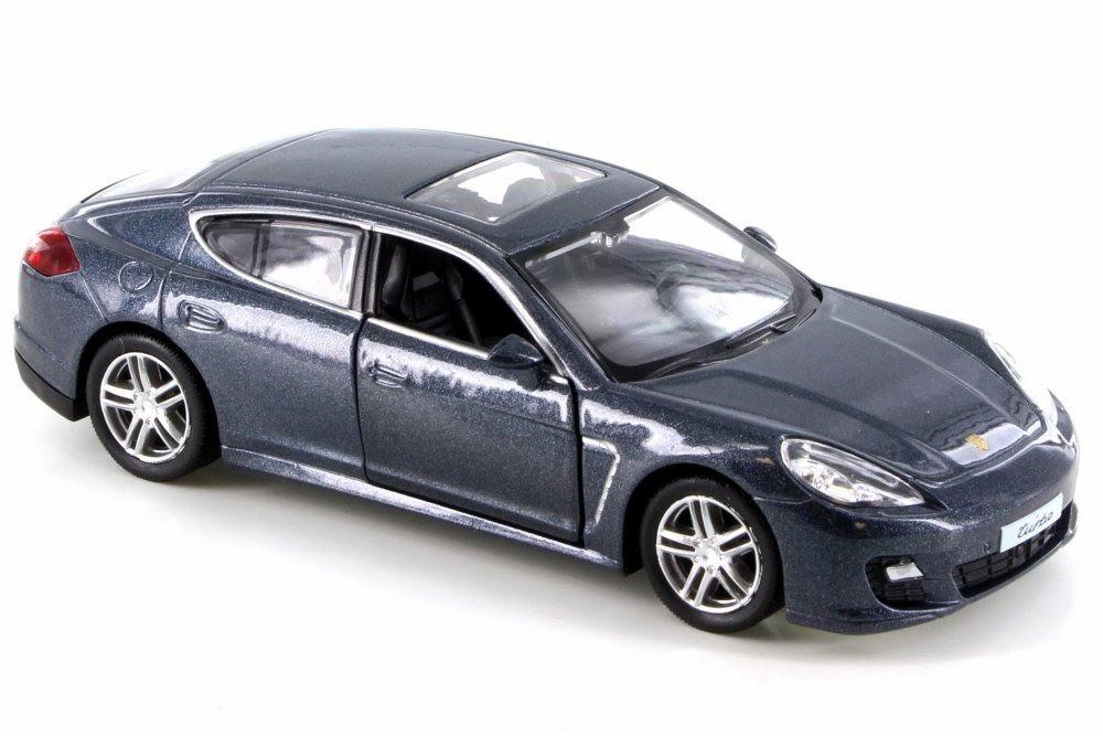 """5/"""" Scale Model Porsche Panamera Turbo Silver BBUF555002S RMZ City"""