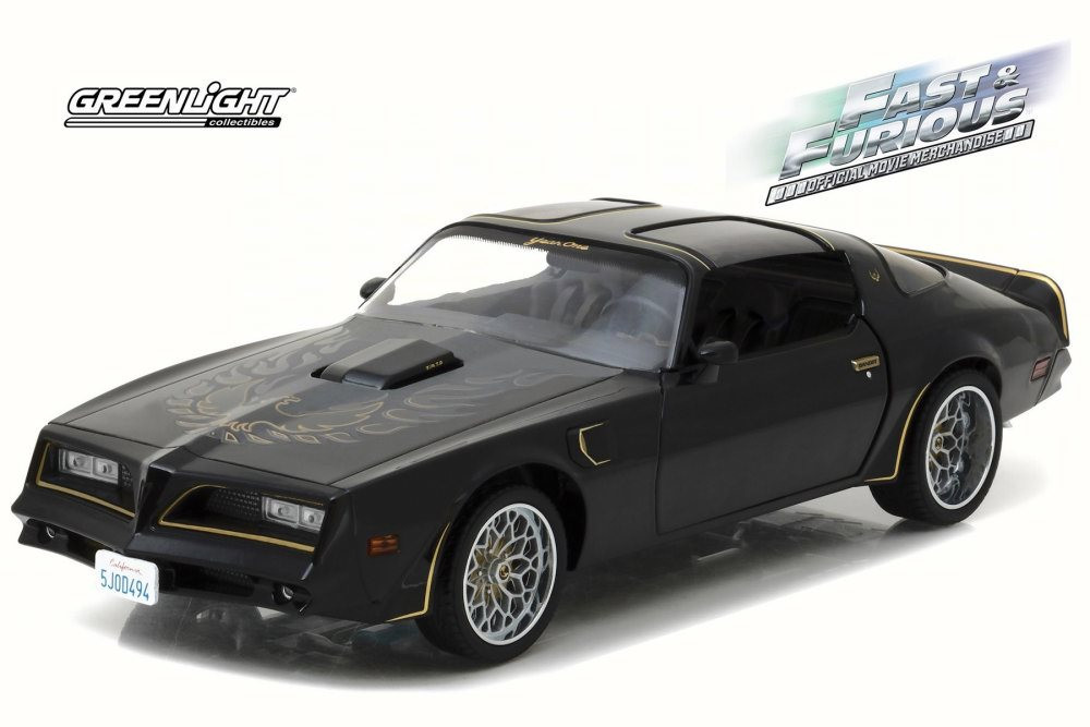 Tego's 1978 Pontiac Firebird Trans Am, Black - Greenlight Fast & Furious 19026 - 1/18 Scale Diecast Model Car