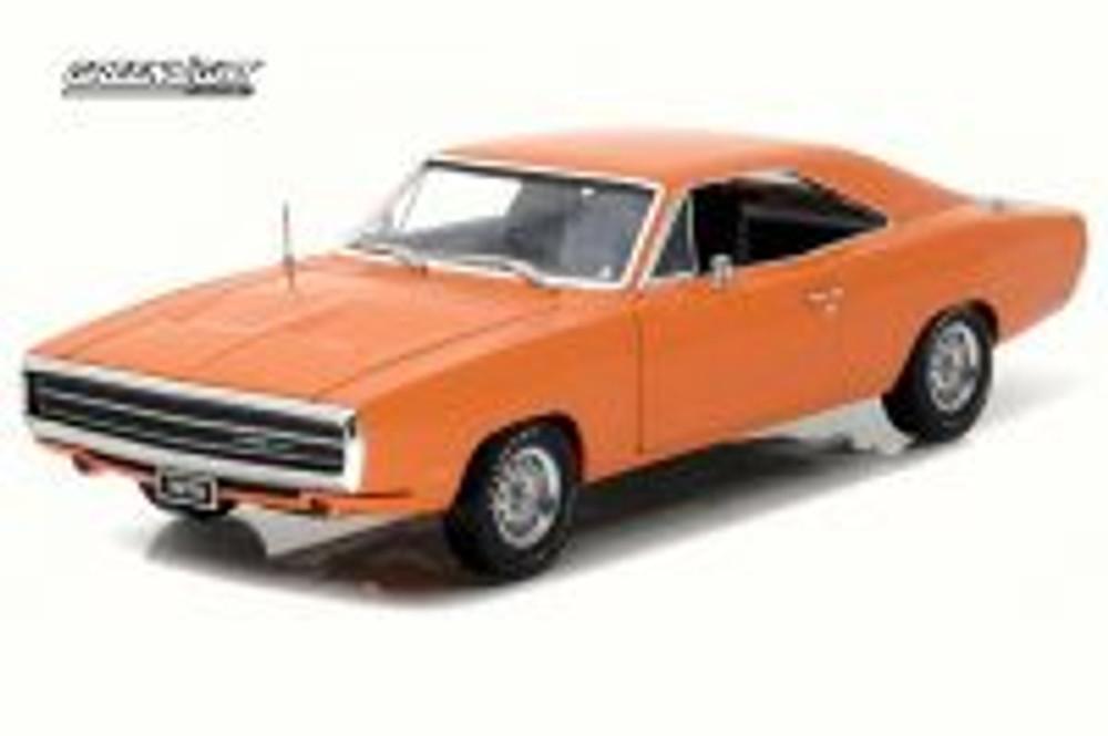 1970 Dodge Charger 500 HEMI, Orange - Greenlight Artisan 19028 - 1/18 Scale Diecast Model Car