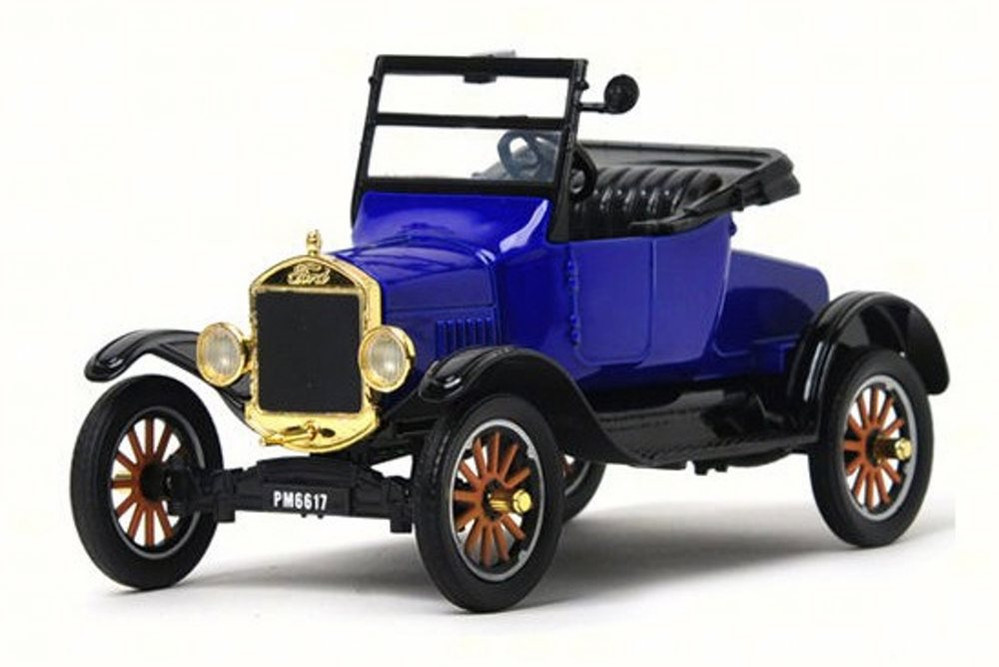 1925 Ford Model T Runabout Convertible, Blue - Motor Max 79327PTM - 1/24 Scale Diecast Model Toy Car
