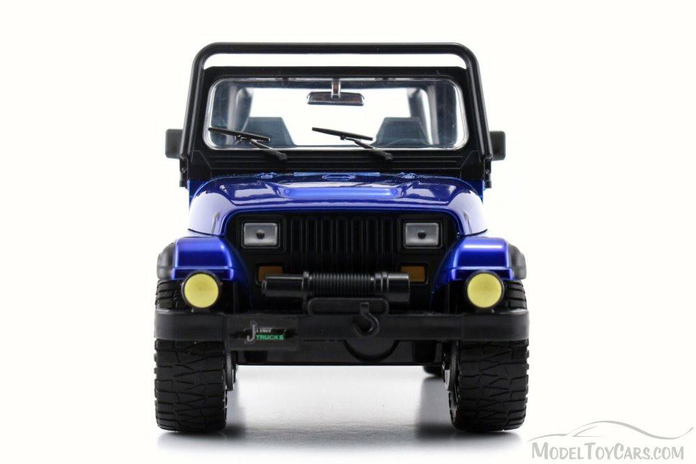 1992 Jeep Wrangler, Blue - Jada 98081WA - 1/24 Scale Diecast Model Toy Car