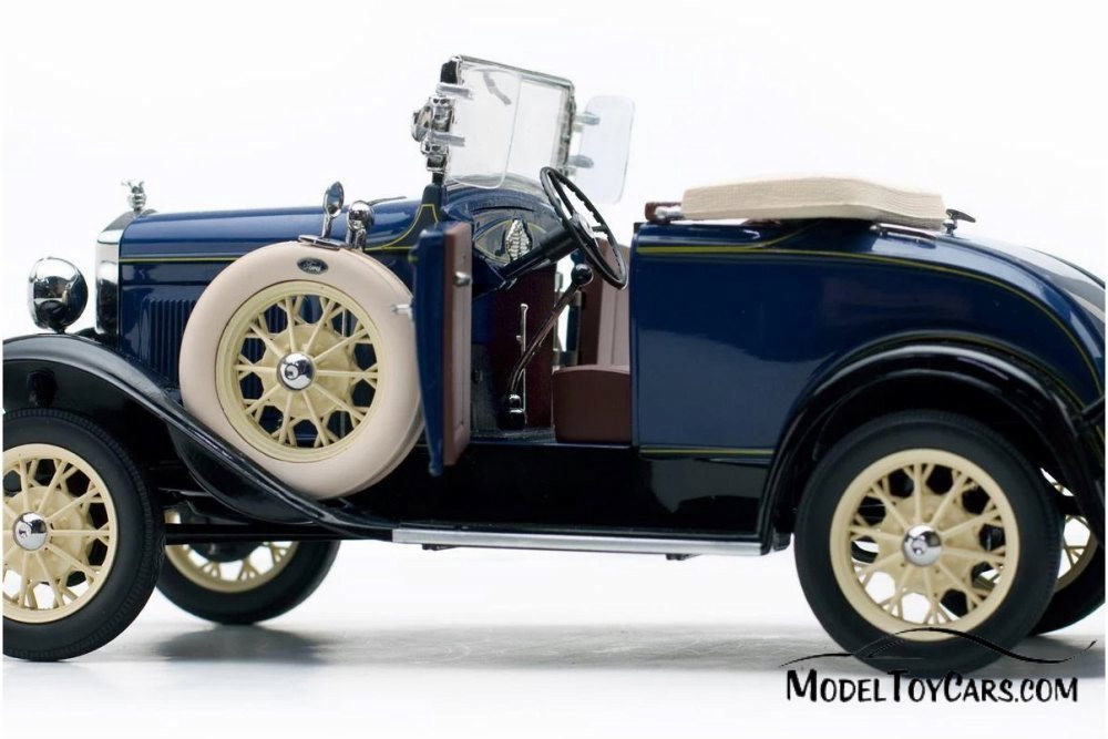 1931 Ford Model A Roadster, Riviera Blue - Sun Star 6125BU - 1/18 scale Diecast Model Toy Car