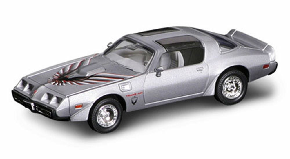 1979 Pontiac Firebird Trans Am T-Top, Silver - Yatming 94239 - 1/43 Scale Diecast Model Toy Car