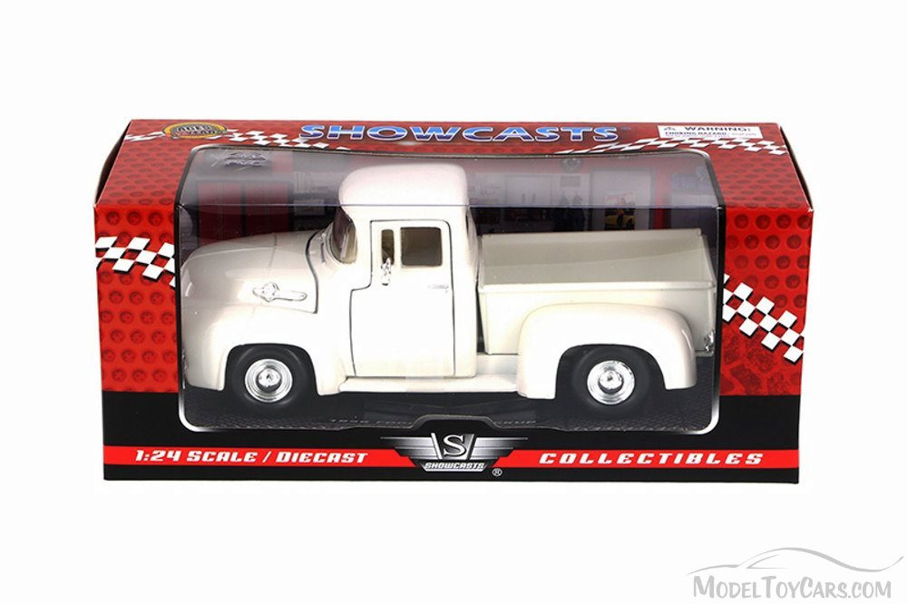 1956 Ford F-100 Pick Up, White - Motor Max 73235AC - 1/24 Scale Diecast Model Toy Car
