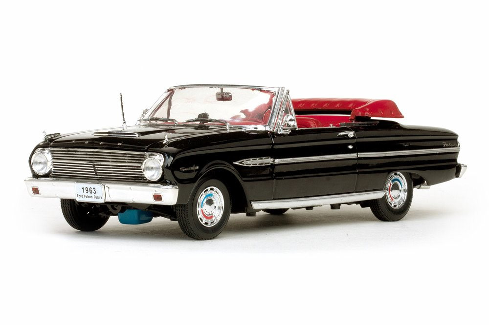 1963 Ford Falcon Convertible, Black - Sun Star 4533BK - 1/18 Scale Diecast Model Toy Car