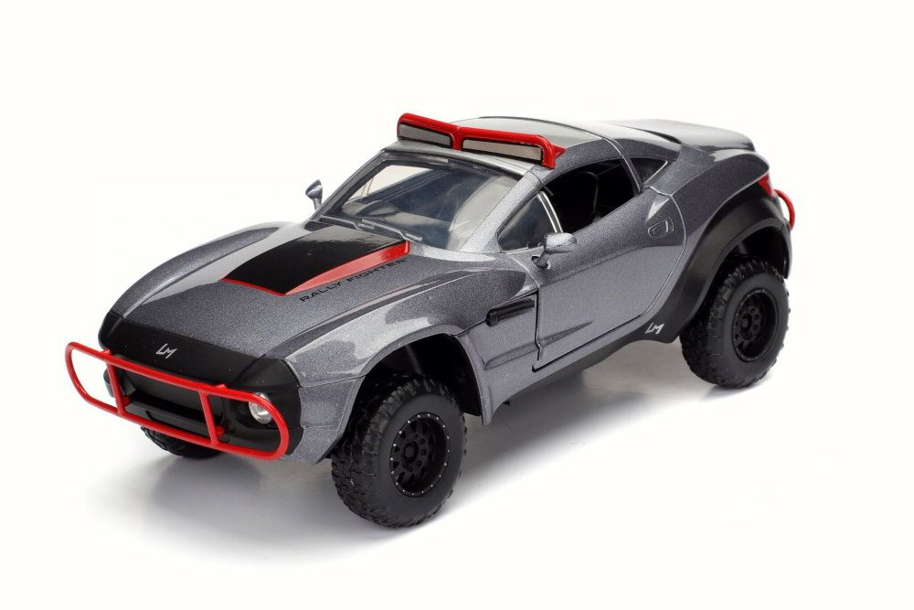 Letty's Rally Fighter, Gray w/Red - Jada 98297 - 1/24 Scale Diecast Model Toy Car